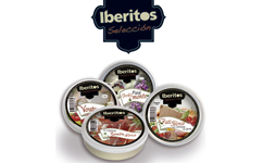 Pates Iberitos of Spain, cured ham cream, cream ham, cream of chicken, Iberian pate, pate Pedro Ximenez, salmon pate, cachuela, zurrapa of colora loin, sausage pate, pate partridge, wild boar pate, pate deer, tuna pate, roquefort cream